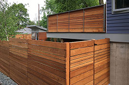 fence and planter